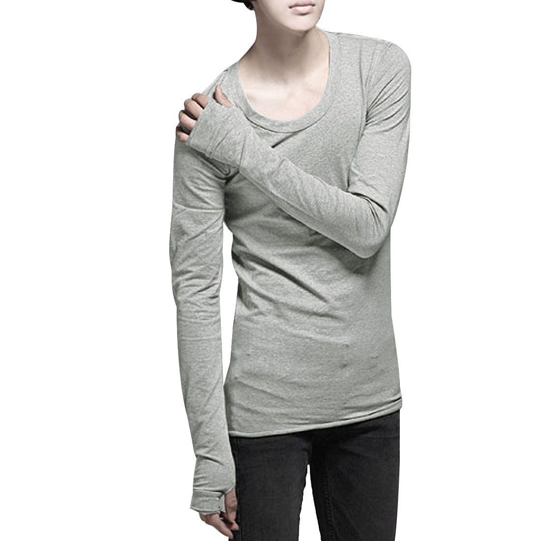 Long sleeved scoop neck shirt with thumb holes men - Google zoeken ...