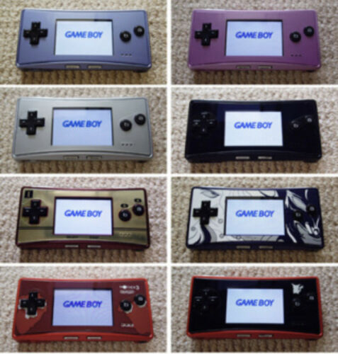 8 Types Used Nintendo Game Boy Micro Console Japan Gameboy Nintendo Nintendo Game Boy Advance