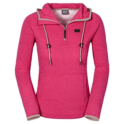 Jack Wolfskin Womens Tongari Nanuk Hoodie Pink Raspberry Medium -- You can get more details by clicking on the image.