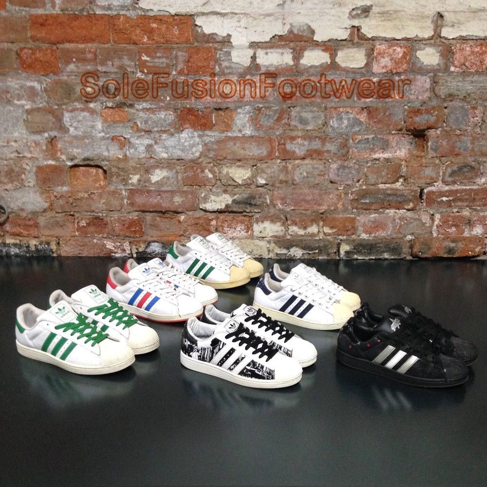 8c664dc2319e adidas Originals Superstar Trainers Bundle Mens Shoes Joblot UK 8 VTG