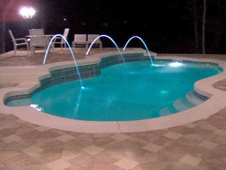 Laminar deck jets lit with led lights love these for Pool jets design