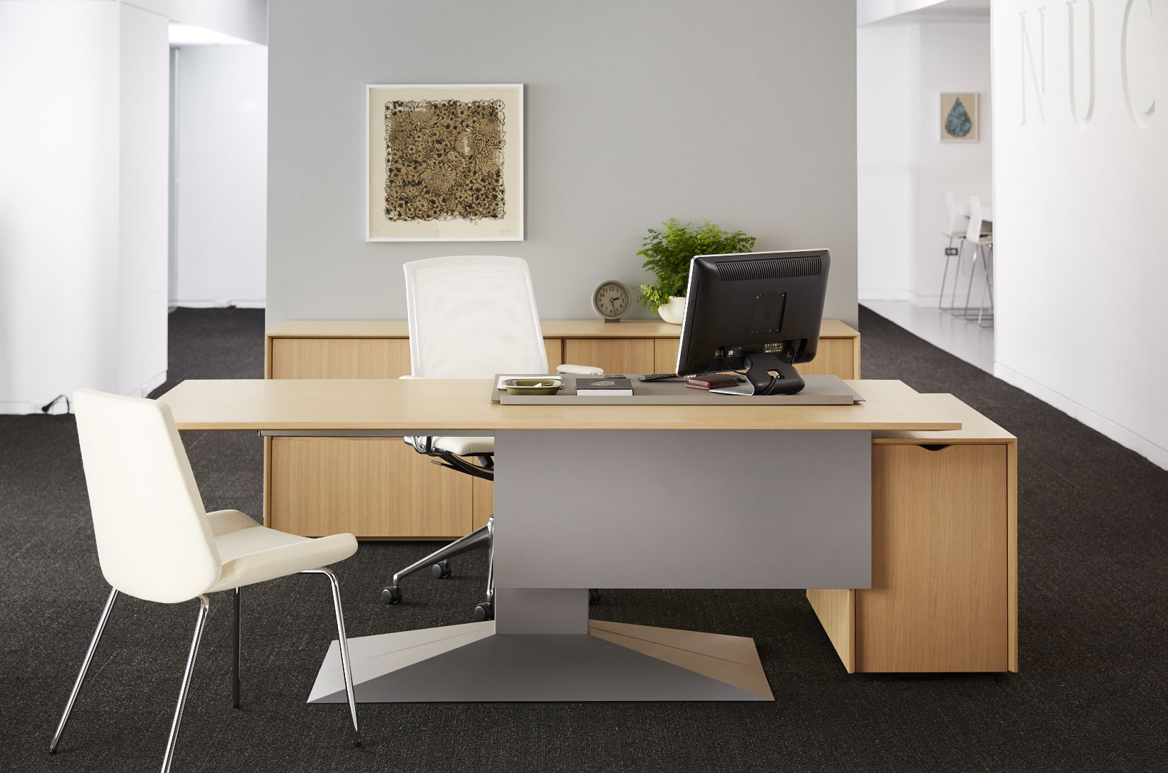Did You Know Can Add Modesty Panels To The Front Of Your Modern Office Desk A Panel Be Full Width Or Partial With Length Suit