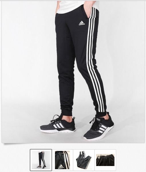 0f100be4ca New Adidas BK7396 Black / White Men's Tapered Track Pant jogger US $34.99