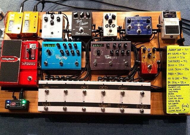 the pedal board of bobby strand guitarist for bethel music guitar rig ideas guitar pedals. Black Bedroom Furniture Sets. Home Design Ideas