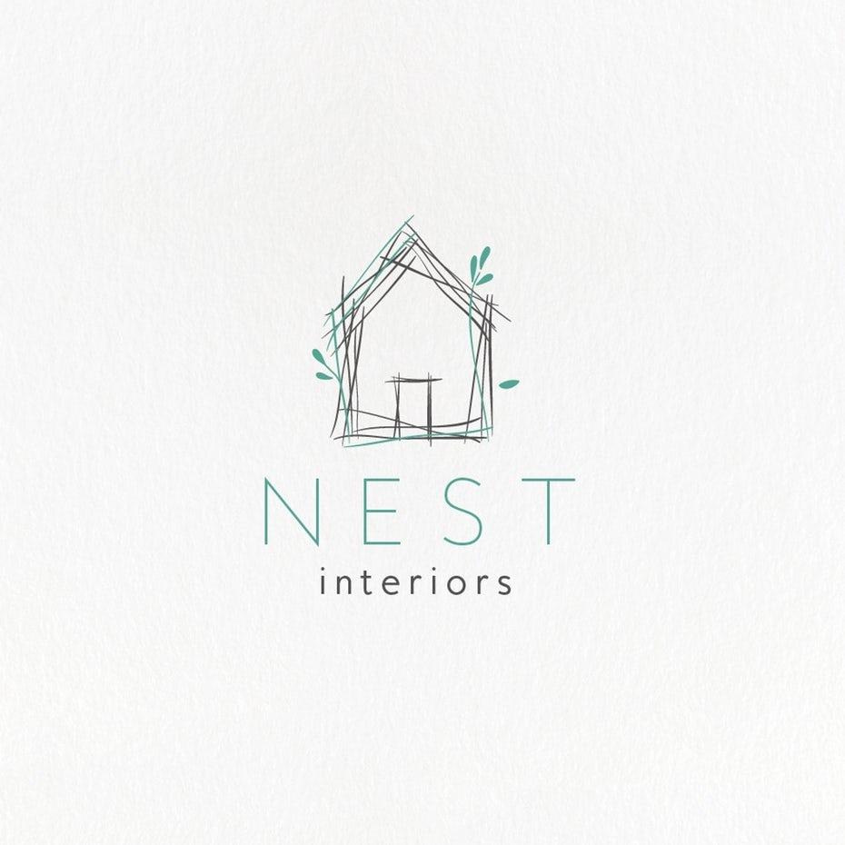اكثر من 30 شعار من شعارات مميزة تغذية البصرية محمد أحمد House Logo Design Company Logo Design Interior Design Logo Inspiration