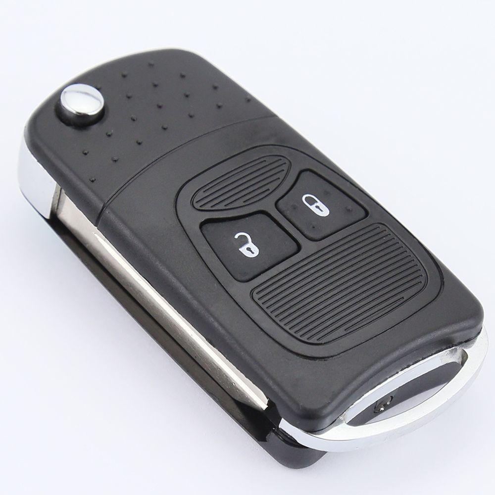 New Black 2 Button Keyless Folding Flip Key Shell Fob Case