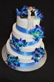 Blue Orchid Wedding Cake Adelaide Cakesilicious By Lisa Toppers Lol Love This