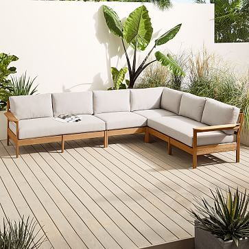 Playa Outdoor 4 Piece Sectional Westelm Sectional Outdoor Lounge Outdoor Sofa