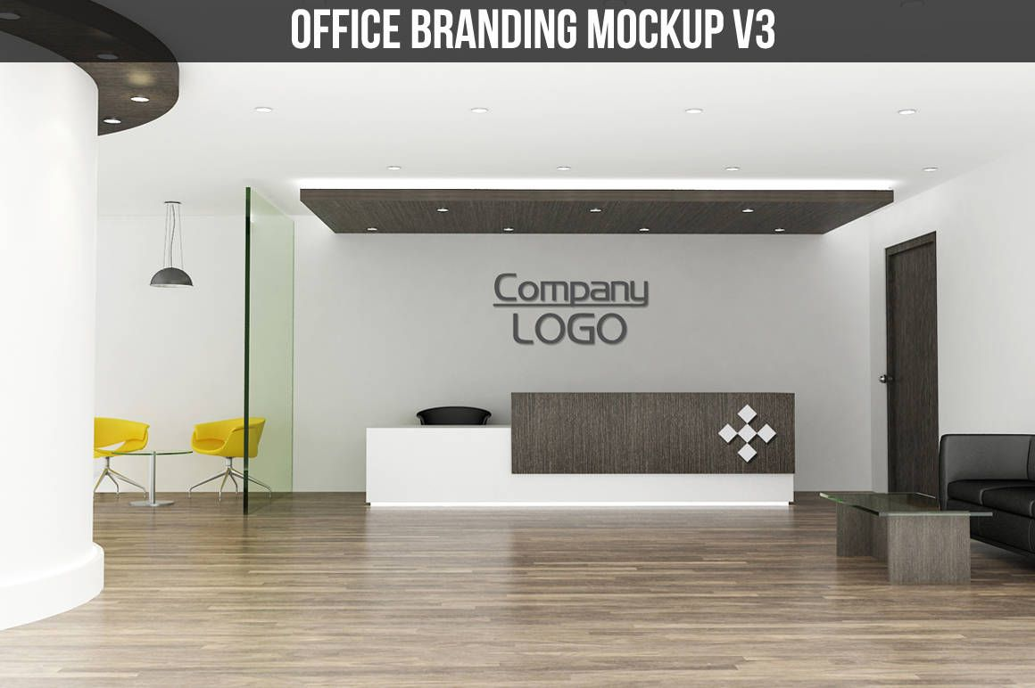 Office Branding Mockup Interior Reception Logo Design Instant Digital By Aivosgraphics On Etsy