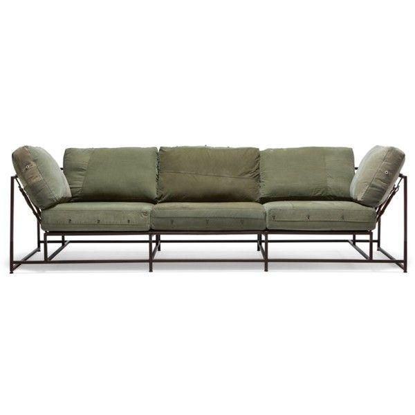 STEPHEN KENN Inheritance Sofa Olive ($7,500) ❤ Liked On Polyvore Featuring  Home, Furniture