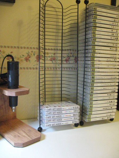 Wonderful Way To Store Stamp Sets Ps Look At The Heat Gun Holder