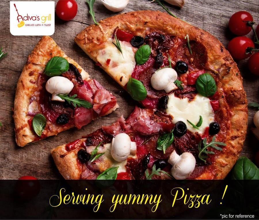 Choose from an amazing range of pizzas. Served absolutely hot & fresh! #adivasgrill #DelhiNCR #pizza #Italian#foodfood #foodiesdelight