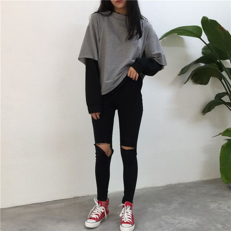 Buy Melon Juice Mock Two-Piece Pullover | YesStyle #grungeoutfits