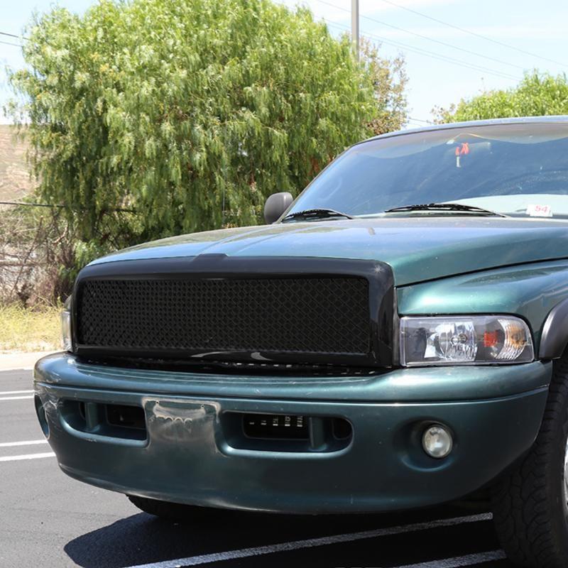 Spec D Grill Dodge Ram 1500 2500 3500 94 01 Mesh Gloss Black Dodge Ram 1500 Dodge Ram Ram 1500