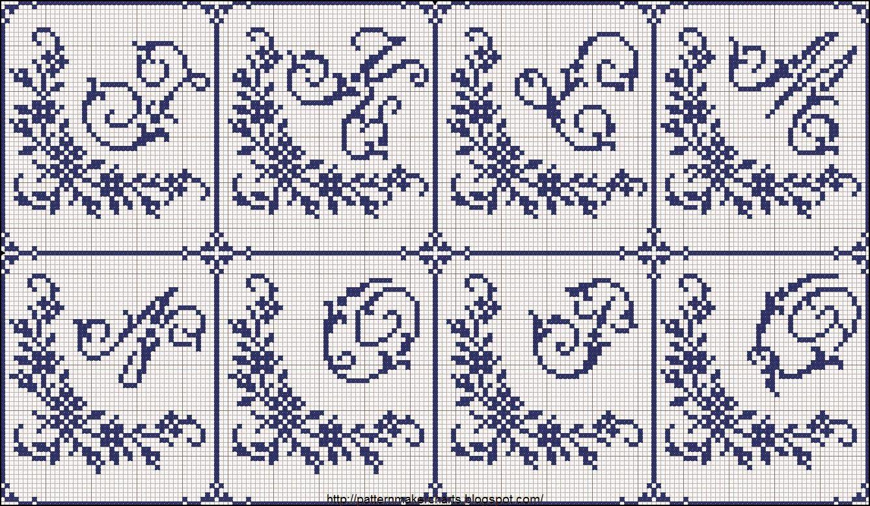 Hobby lavori femminili ricamo uncinetto maglia for Ricamo punto croce alfabeto
