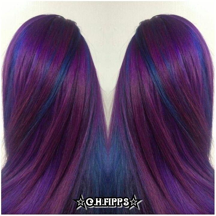 Cosmic Purple and Blue Pinwheel Hair Color - http ...