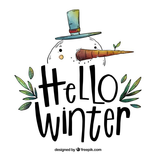 Hello Winter Background With A Hand Drawn Snowman | Download now free vectors on Freepik