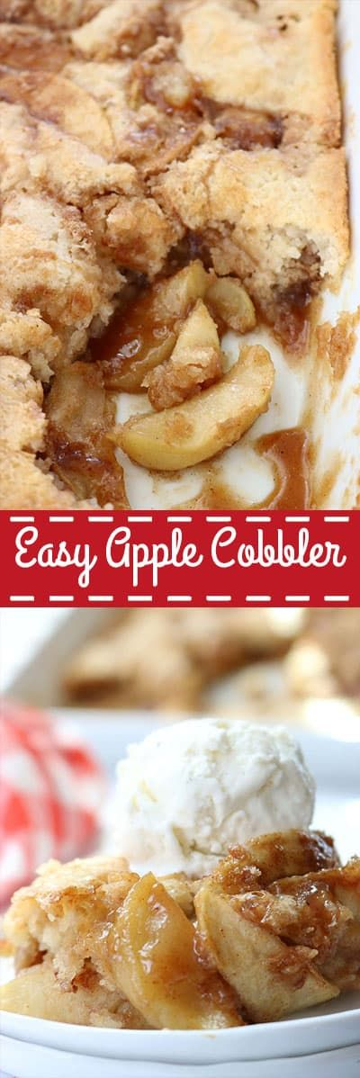 Easy Apple Cobbler #applerecipes