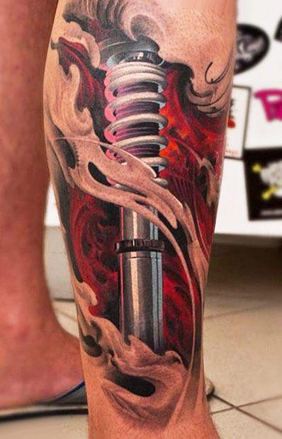3d suspension tattoo by denis sivak pinterest mechanik. Black Bedroom Furniture Sets. Home Design Ideas
