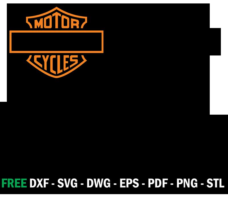 Harley Davidson Logo Stencil Vector Çizim ve Dekorasyon