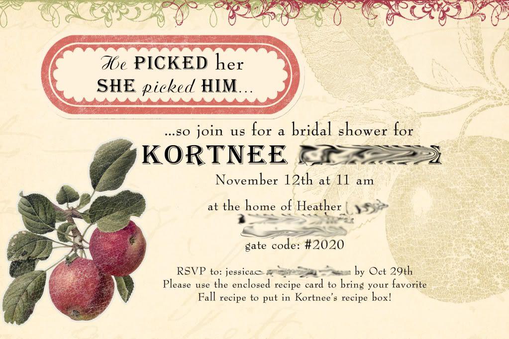 Fall Inspired Bridal Shower | Bridal shower, Recipe cards ...