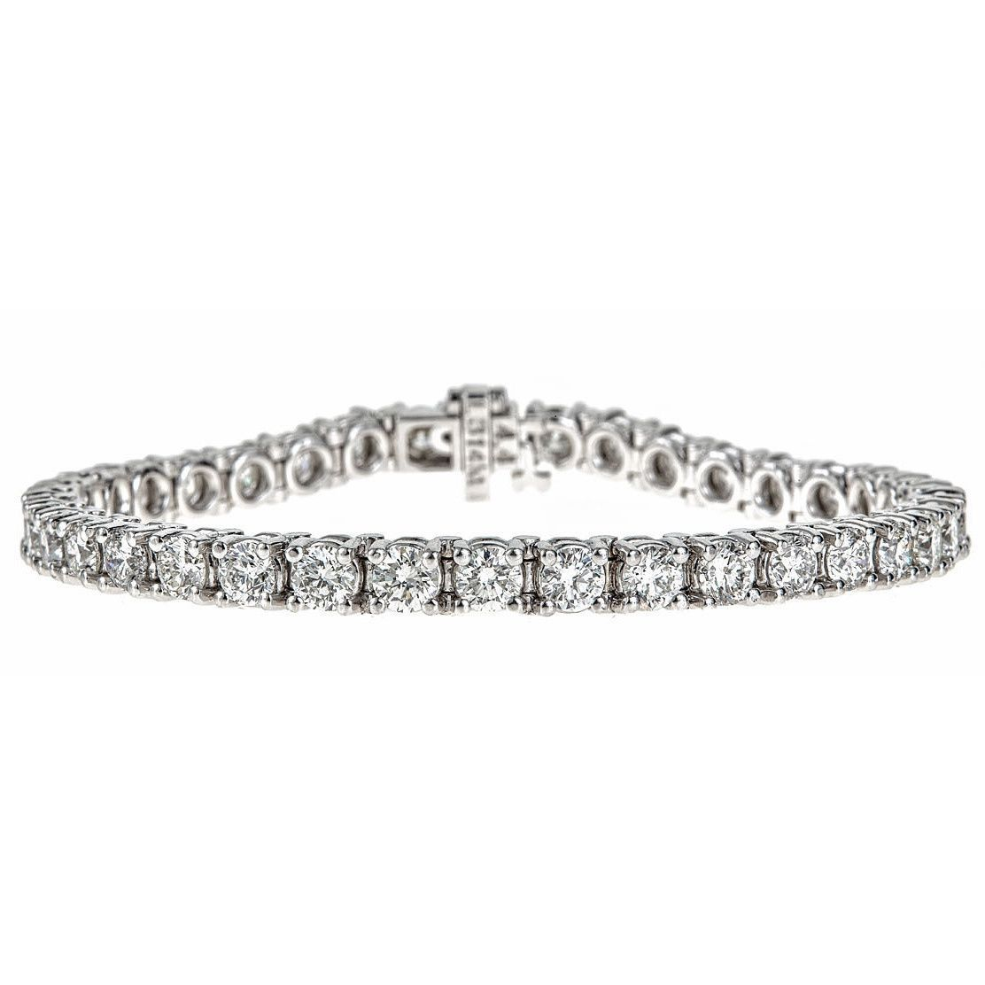 K whie gold ct tdw diamond tennis bracelet hi sisi
