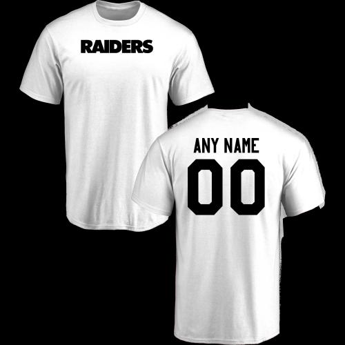 Men Oakland Raiders Design-Your-Own Short Sleeve Custom NFL T-Shirt ... 1bdad4e94