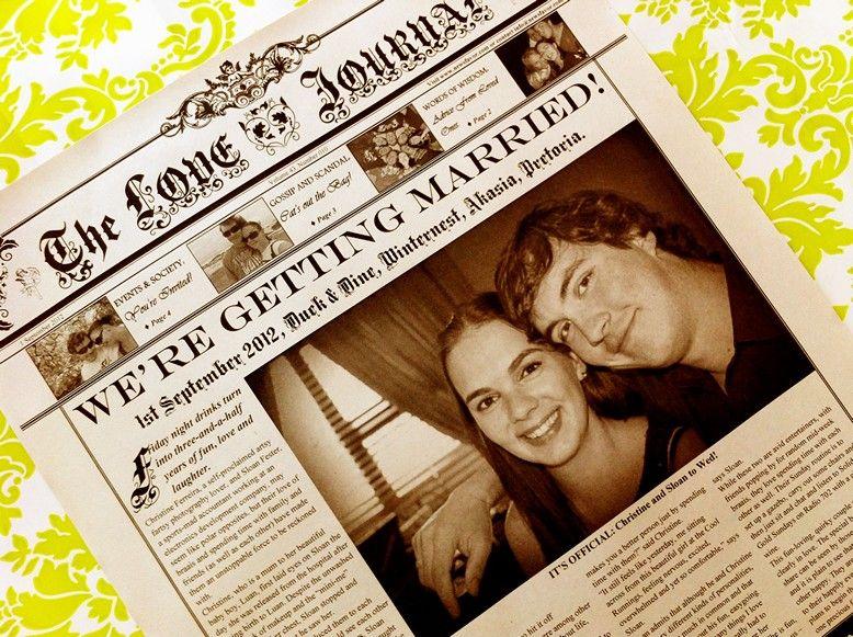 Newspaper Wedding Invitations: ... Wedding Invitations Created In