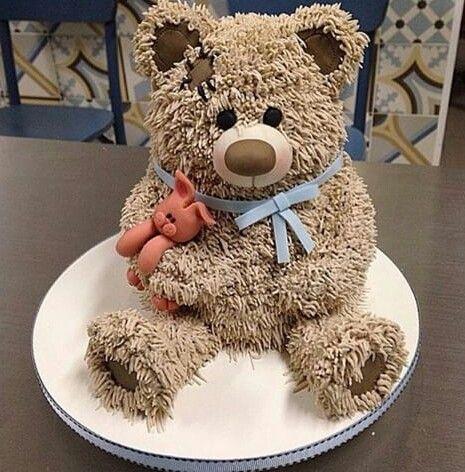 Torta con forma de oso teddy