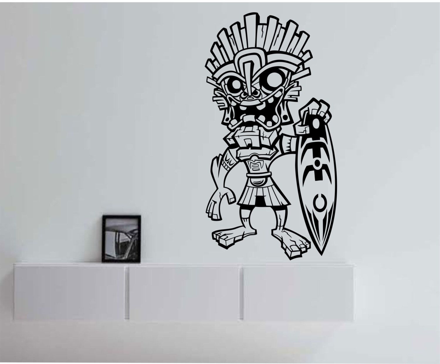 Tiki Surfer Hawaii Vinyl Wall Decal Sticker Art Decor Bedroom
