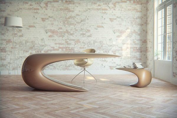 futuristic office furniture. futuristic desk for a scifi inspired office furniture