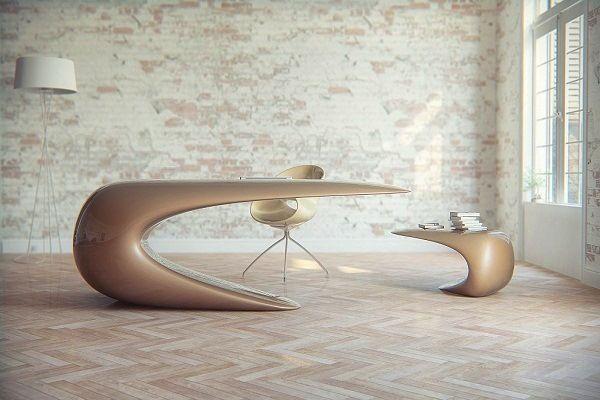 Futuristic Desk For A Sci Fi Inspired Office