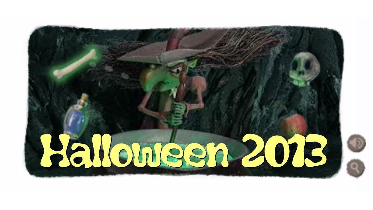 Halloween Hexe (Halloween Witch) Google Doodle 2013