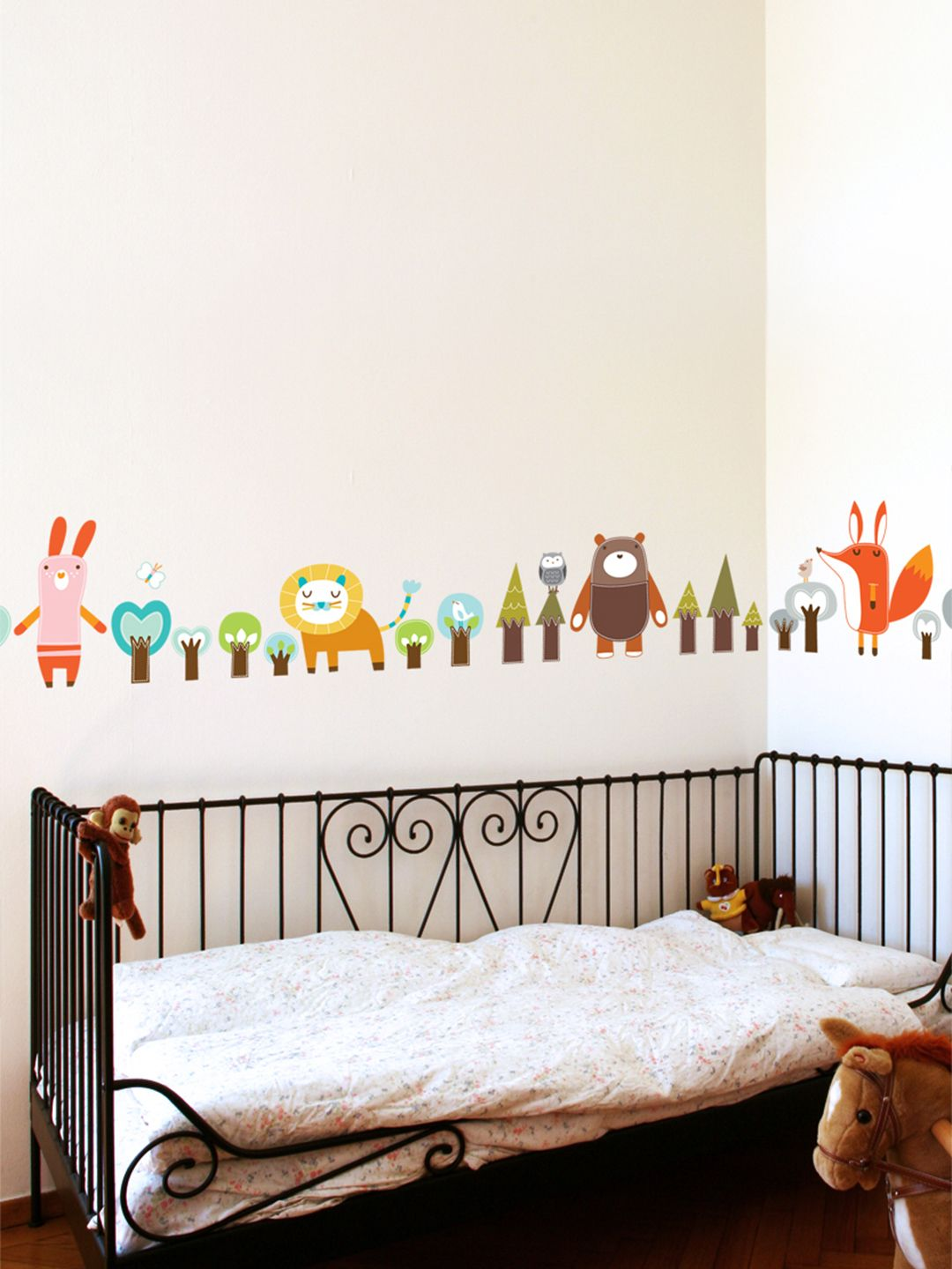 Forest friends removable wall decal nursery room decor