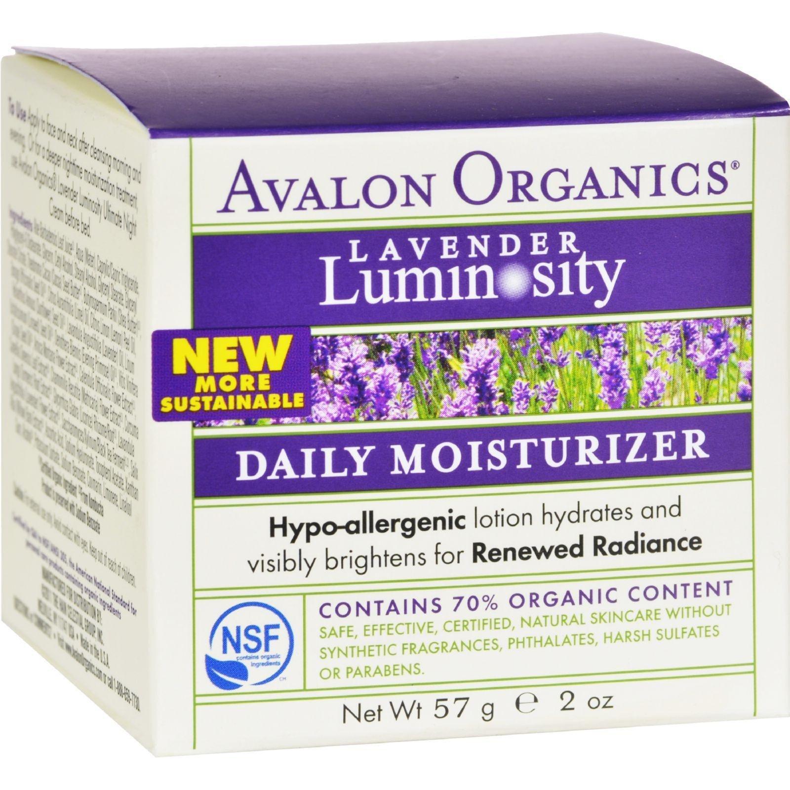 Avalon Organics Daily Moisturizer Lavender - 2 Fl Oz
