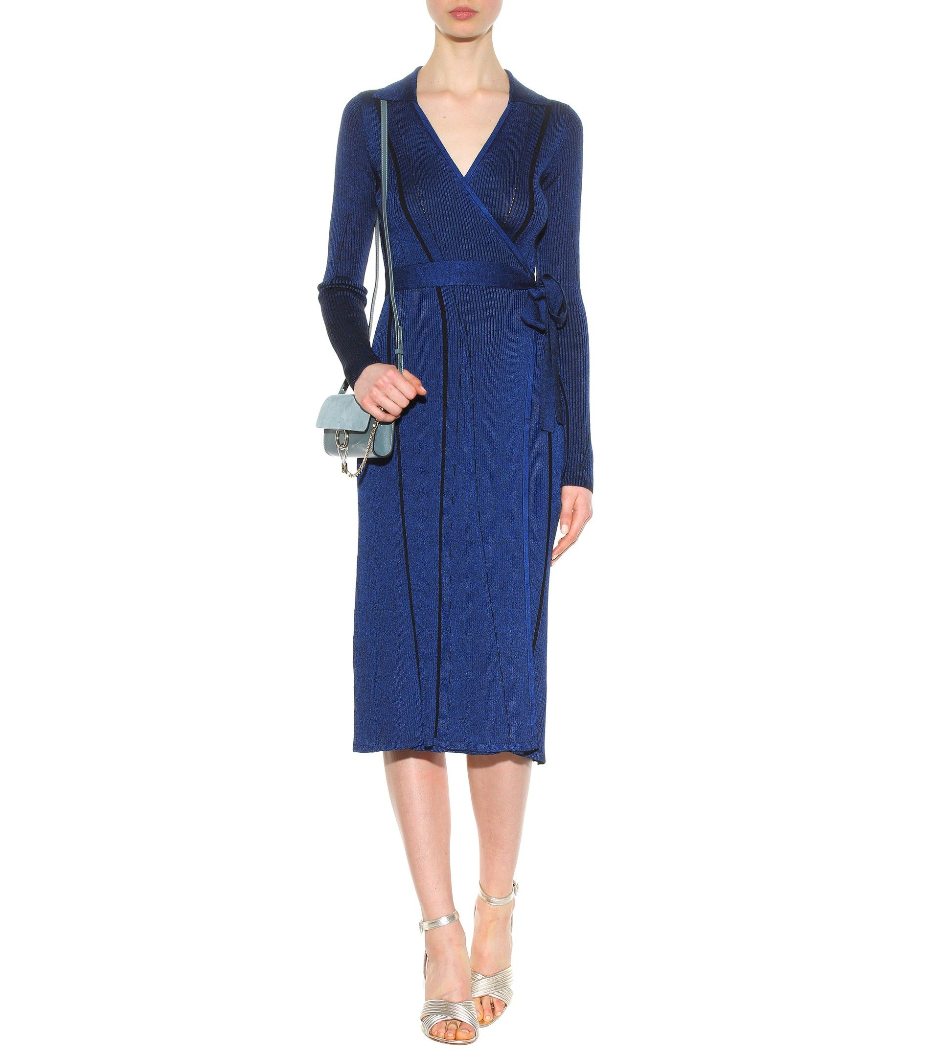 Diane Von Furstenberg Woman Wool-blend Dress Cobalt Blue Size 4 Diane Von Fürstenberg