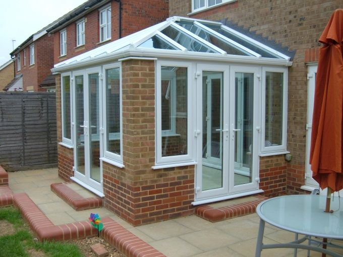 Edwardian Conservatory With Brick Piers All Seasons Room