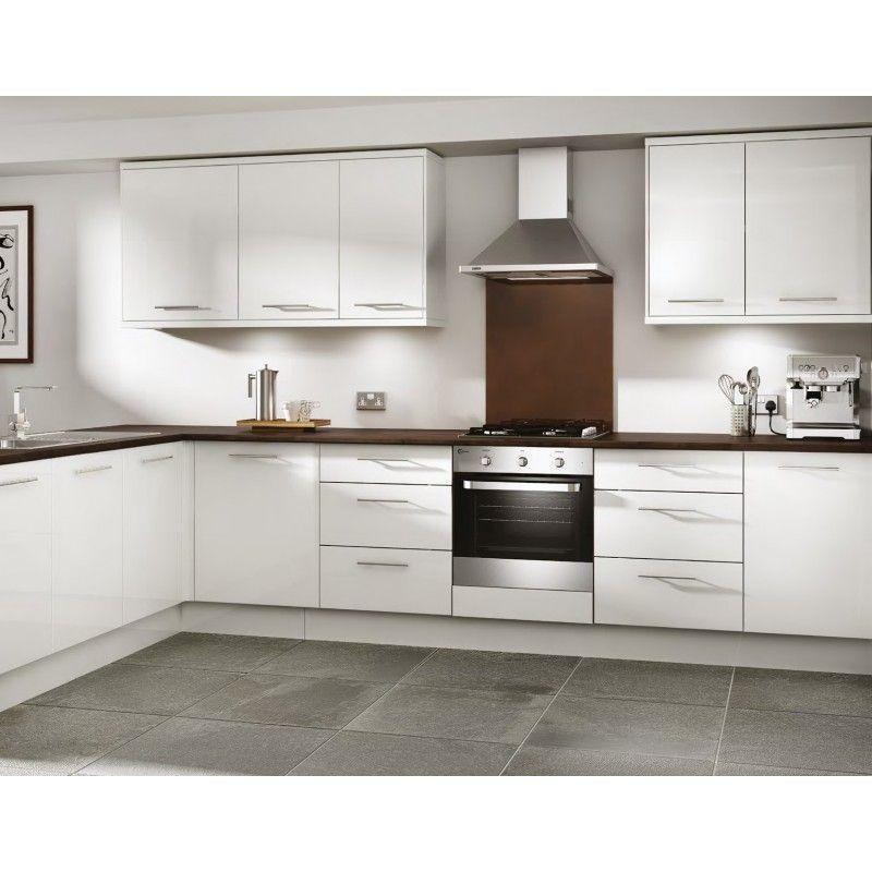 Ennis Gloss White Slab Door Kitchen White Kitchen Units Kitchen