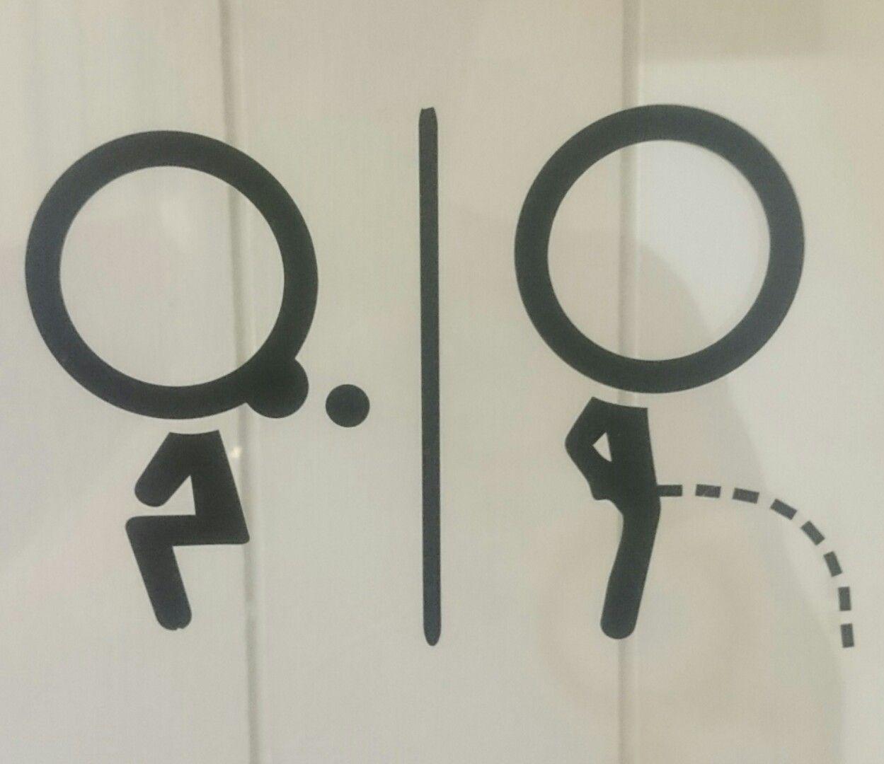 Toilet Sign We Puertas De Ba O Pinterest Letreros