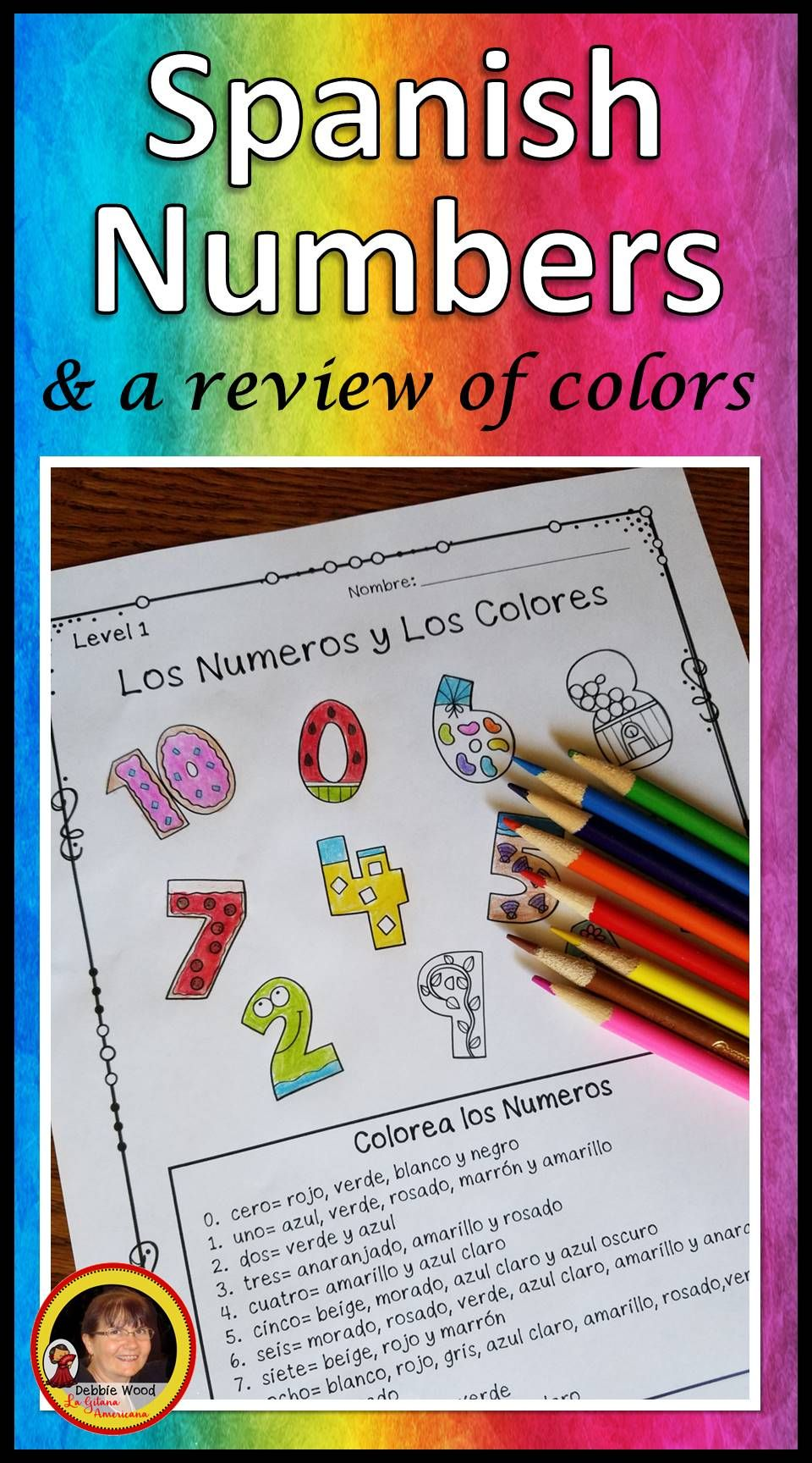 Spanish Worksheets Spanish Numbers Spanish Numbers Learning Spanish Spanish Lessons [ 1728 x 960 Pixel ]