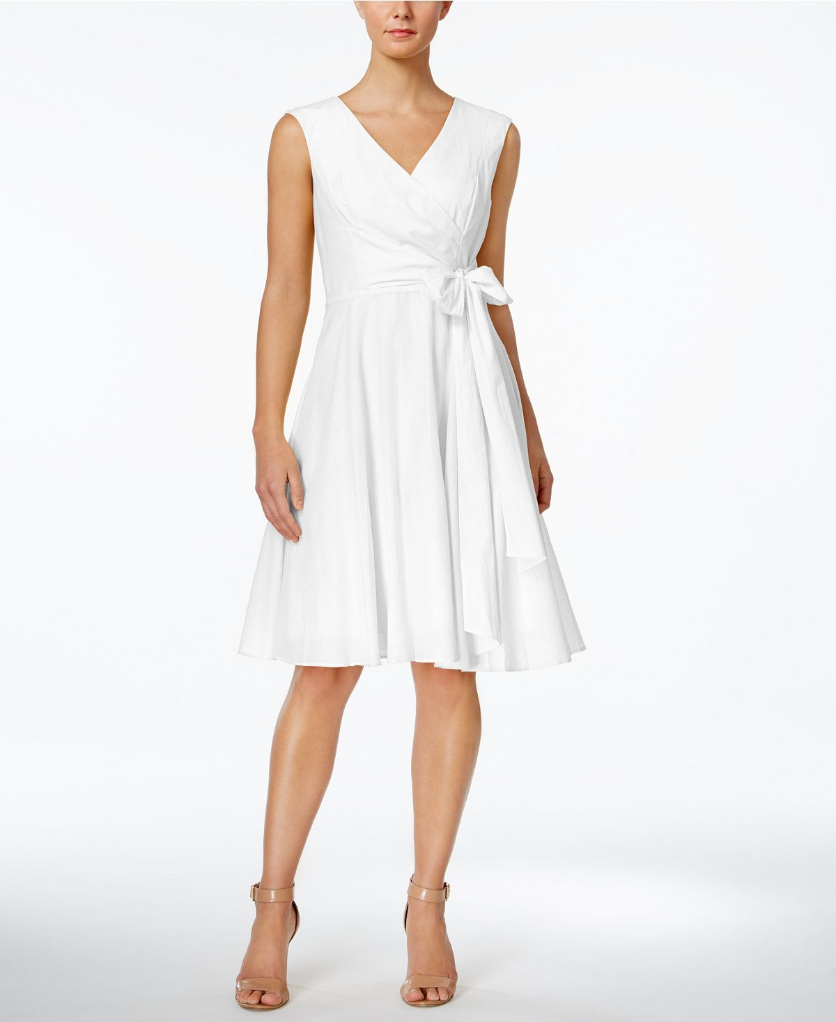 16+ White fit and flare dress information