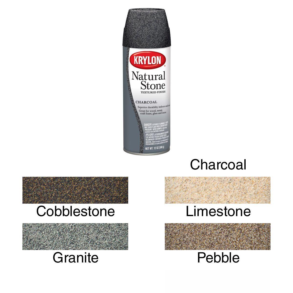 Krylon Natural Stone Grey Aerosol Spray 12 Ounces Cobblestone