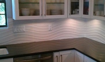 Retro White Tile Backsplash Kitchen Backsplash Wave Panel Tile Contemporary Kitchen Aus Backsplash With Dark Cabinets Farmhouse Backsplash Backsplash