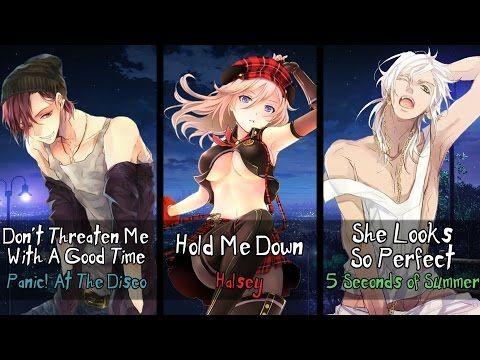 Nightcore - Hold Me Down, She Looks So Threatening (Mashup) (Switching Vocals) - YouTube