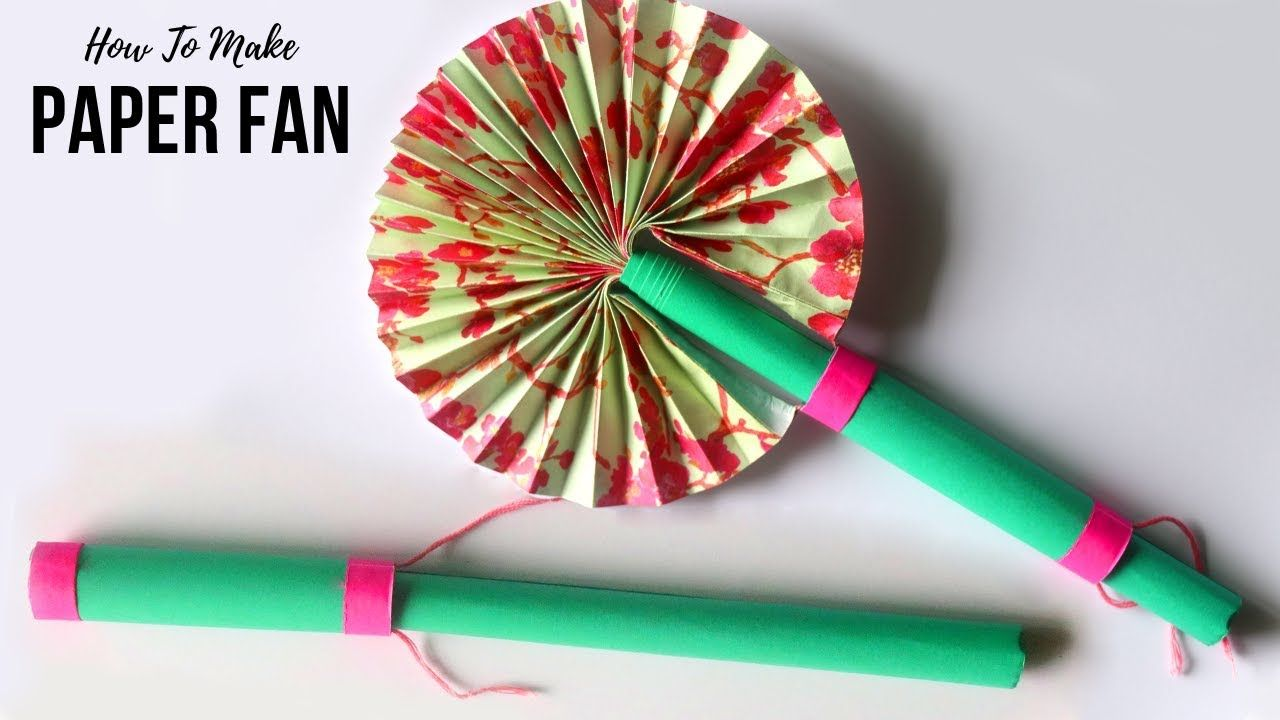 How To Make Paper Fan Japanese Paper Fan Craft Craft Ideas