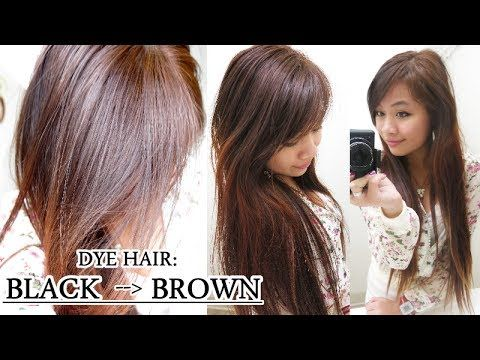 How to Dye Hair from Black to Brown (Without Bleach) - YouTube ...