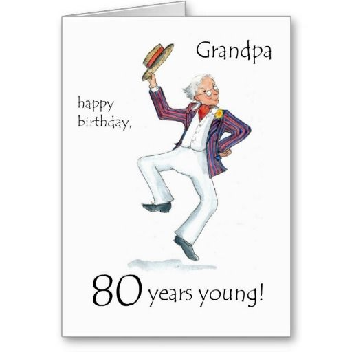 80th Birthday Card For A Grandfather Zazzle Com 80th Birthday