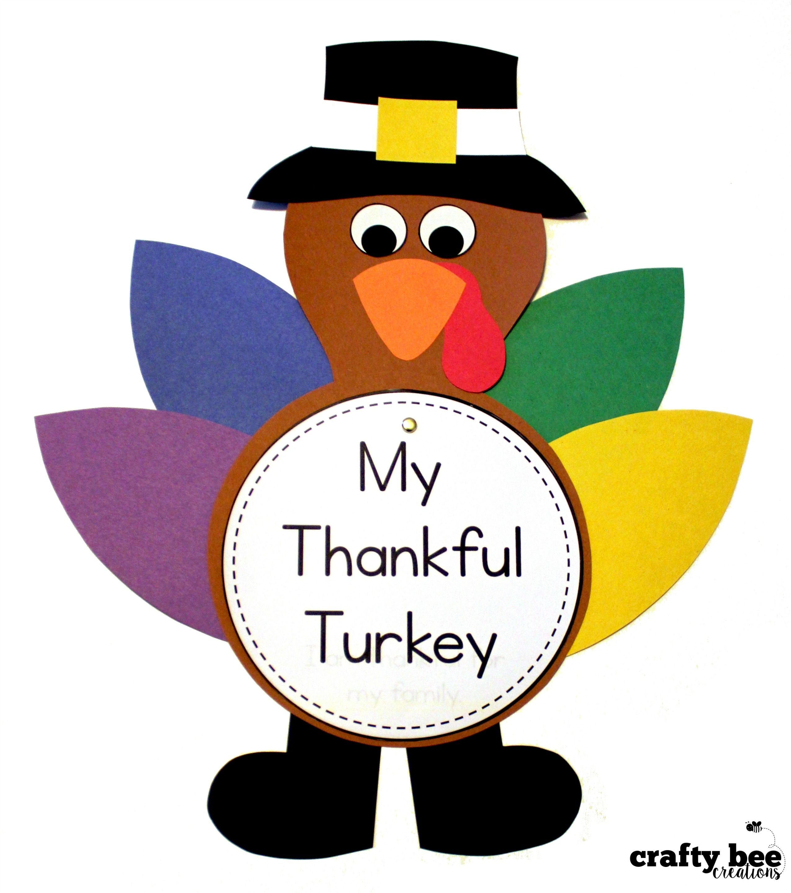 Turkey Craft My Thankful Turkey