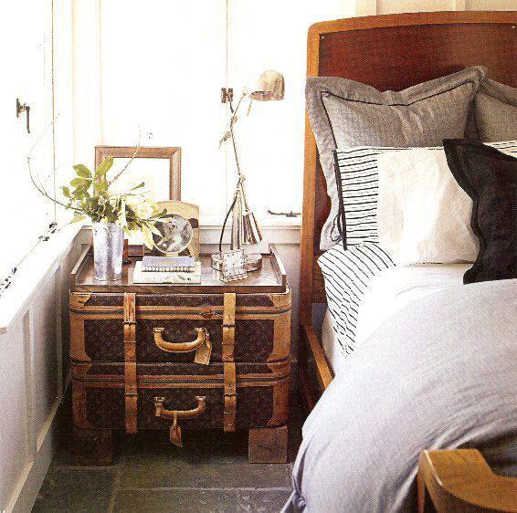 luscious louis vuitton bedside! | suitcase&luggage | pinterest