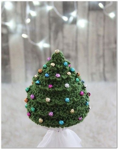 Christmas Tree Hat Pattern Free Home Picture Idea Christmas Tree Hat Christmas Crochet Pattern Christmas Tree Beads
